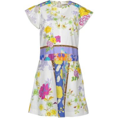 エトロ ETRO ミニワンピース&ドレス ホワイト 44 100% コットン ミニワンピース&ドレス