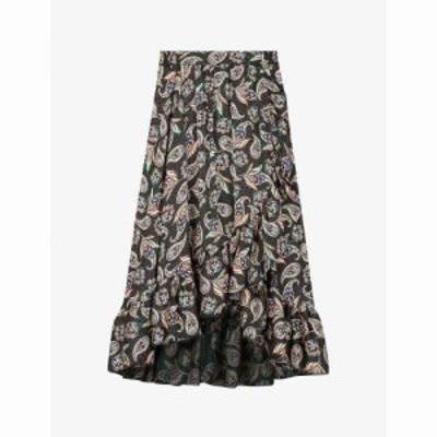 マージュ MAJE レディース ロング・マキシ丈スカート スカート Jisley paisley-print woven maxi skirt PAISLEY BLACK