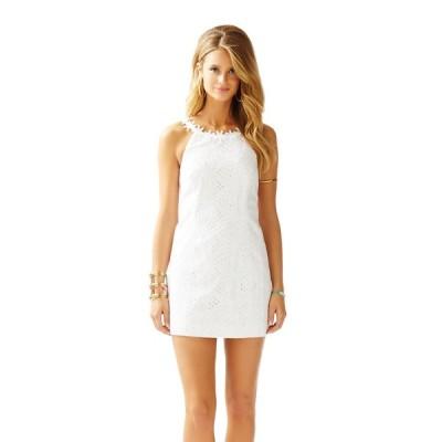 ワンピース リリーピュリッツァー Lilly Pulitzer ANNABELLE SHIFT DRESS Resort White Sunflower Eyelet 4 14