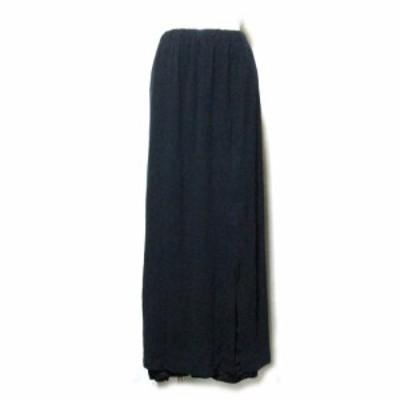 ALFASPIN アルファースピン 「M」レイヤードマキシ丈スカート (黒 ロング Made in Japan 日本製) 111243【中古】