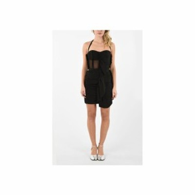 MAISON MARGIELA/メゾン マルジェラ Black レディース MM0 halter strap silk Draped dress dk