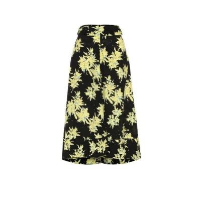 プロエンザ スクーラー Proenza Schouler レディース ひざ丈スカート スカート Floral cady skirt Yellow/Black Splatter Floral