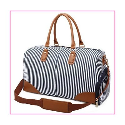 Gimay Weekend Travel Bag Women Overnight Duffle Canvas Tote Bags … (Blue)並行輸入品