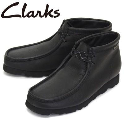 Clarks (クラークス) 26146260 WallabeeBT GTX ワラビーブーツ ゴアテックス メンズ ブーツ Black Leather CL033