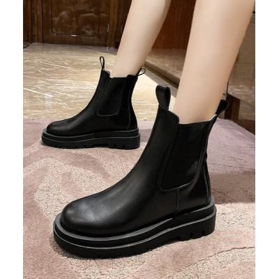 STYLEBLOCK / 厚底サイドゴアショートブーツ WOMEN シューズ > ブーツ