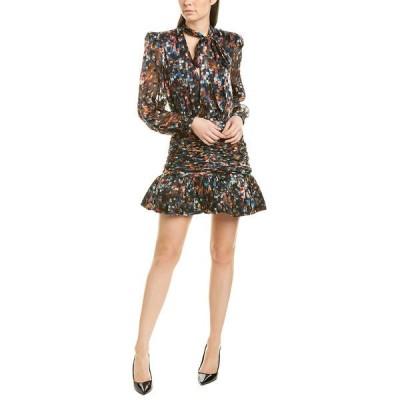 ロニーコボ ワンピース トップス レディース Ronny Kobo Cordelia Silk-Blend Mini Dress multicolor