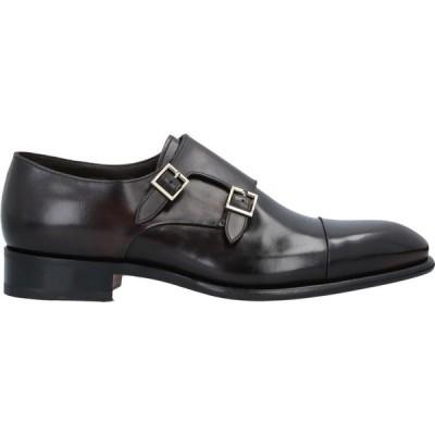 サントーニ SANTONI メンズ ローファー シューズ・靴 Loafers Dark brown