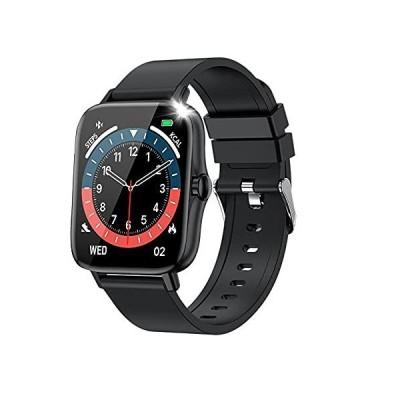 スマートウォッチ 最新版 Bluetooth5.2通話 1.7インチタッチスクリーン 腕時計 天気予報 生活防水 運動記録  ブラック