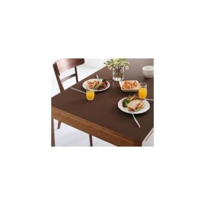 テーブルマット 拭ける ふける 撥水 はっ水 本革調 おしゃれ 日本製 / 長方形 45×90cm