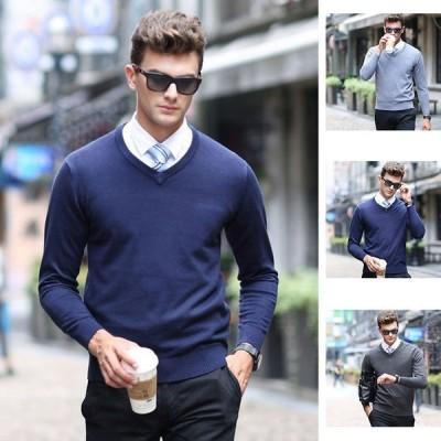 ニット メンズ セーター ニットセーター sweater 長袖 裏起毛 春 秋 冬 トップス ルームウエア 保温 防寒 お洒落