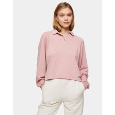 トップショップ レディース シャツ トップス Topshop rugby lounge sweatshirt in pink Pink