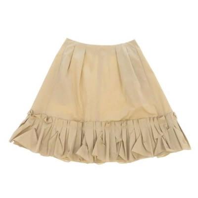 フォクシー・ニューヨーク ギャザースカート ベージュ レディースサイズ40 FOXEY NEWYORK スカート 膝丈 フリル