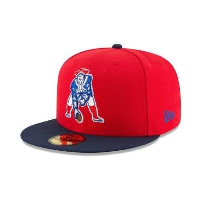 ニューエラ 帽子 アクセサリー メンズ New England Patriots Team Basic 59FIFTY Fitted Cap Red/RoyalBlue