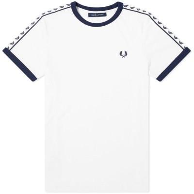 フレッドペリー Fred Perry Authentic メンズ Tシャツ トップス taped ringer tee Snow White