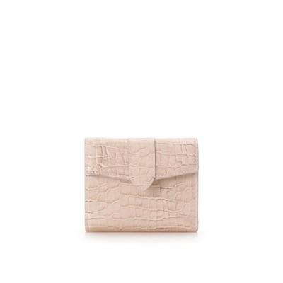 サマンサタバサ シンプル 折財布 ピンク