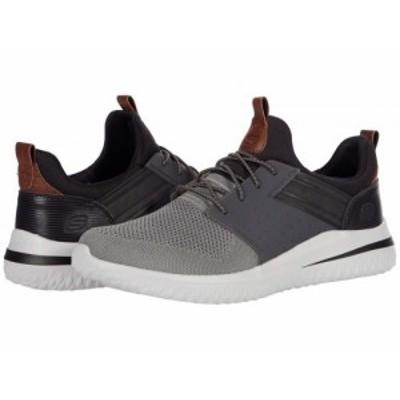 SKECHERS スケッチャーズ メンズ 男性用 シューズ 靴 スニーカー 運動靴 Delson 3.0 Cicada Gray/Black【送料無料】