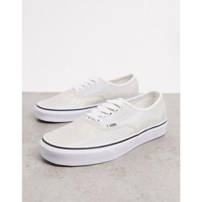 ヴァンズ Vans レディース スニーカー シューズ・靴 UA Authentic Iridescent suede trainers in white