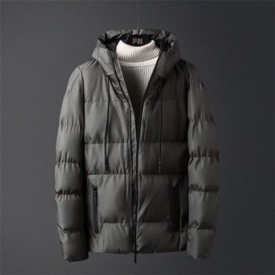 中綿コート メンズ 冬 アウター 厚手 中綿ジャケット ダウン風コート ショートコート パーカー フード付き 暖かい 防寒 大きいサイズ おしゃれ