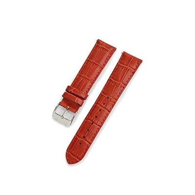 【新品・送料無料】CASSIS[カシス] カーフ 型押し 時計ベルト 裏面防水素材 AVALLON アバロン 20mm レッド 交換用工具付き X10222380830