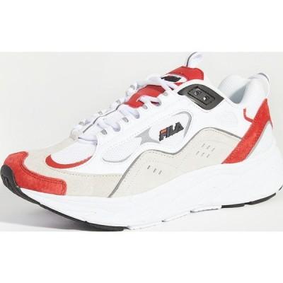 (取寄)フィラ トライゲート スニーカー FILA Trigate Sneakers White FilaRed Black