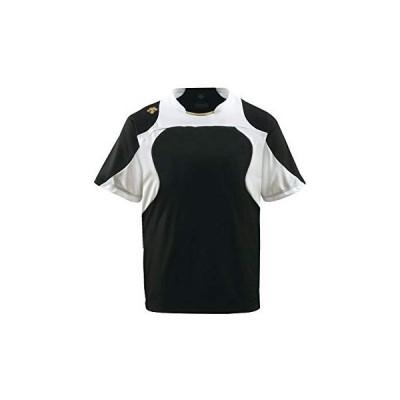 DESCENTE(デサント) ベースボールシャツ DB115 ブラック×Sホワイト×Sゴールド(BKSG) L