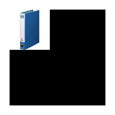 片開きパイプ式ファイルKJ(指かけ穴付) A4タテ 30mmとじ 背幅46mm 青 1冊