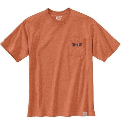 カーハート メンズ Tシャツ トップス Carhartt Men's Loose Fit Heavyweight SS Pocket Carhartt C Graphic T-Shirt