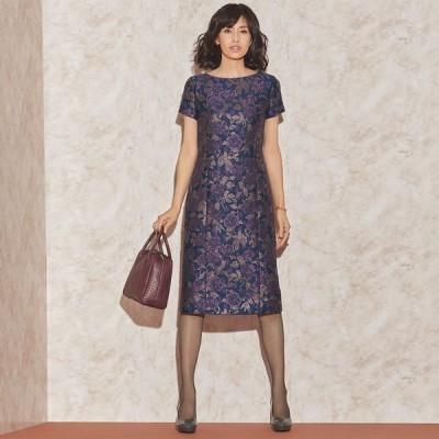ファッション ワンピース チュニック プリント 柄ワンピース マリア・ケント社 ローズジャカード ワンピース 140602