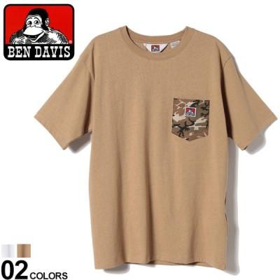 ベンデイビス Tシャツ BEN DAVIS 綿100% 迷彩ポケット クルーネック 半袖 Tシャツ CAMO POCKET TEE 0580058