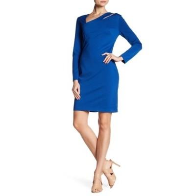 アレクシアアドマー レディース ワンピース トップス Asymmetrical Neck Sheath Dress COBALT