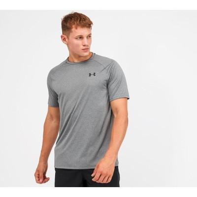 アンダーアーマー Under Armour メンズ Tシャツ トップス tech 2.0 novelty t-shirt Pitch Grey