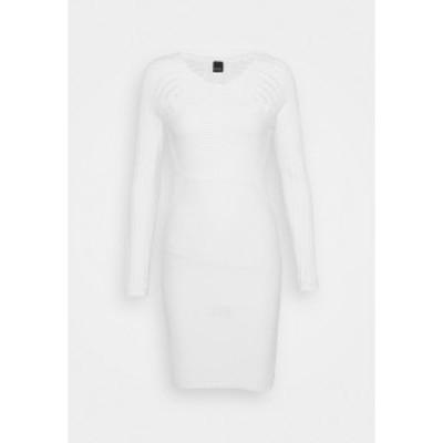 ピンコ レディース ワンピース トップス CAMPIONATO ABITO STRETCH PUNTO RETE - Jumper dress - off-white off-white