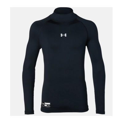(UNDER ARMOUR/アンダーアーマー)アンダーアーマー/キッズ/UA COLDGEAR ARMOUR COMPRESSION LS MOCK/ BLK