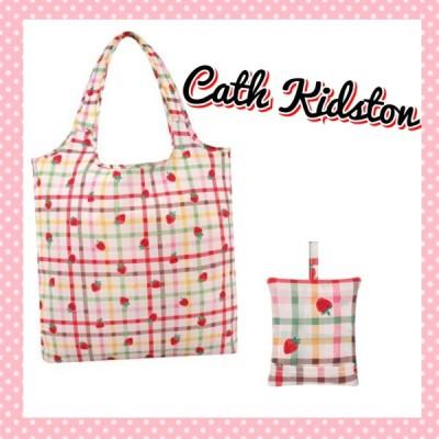 Cath Kidston キャスキッドソン 花柄 ストロベリー 折りたたみ トートバッグ エコバッグ ピンク系 レディース