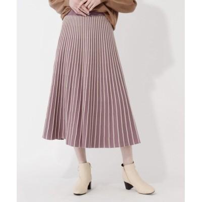 grove / 【S-LL】配色ラインタックニットスカート WOMEN スカート > スカート