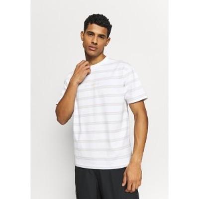 ニューバランス メンズ Tシャツ トップス ATHLETICS STRIPE - Print T-shirt - white white