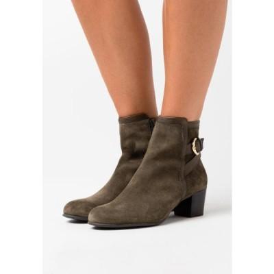 アンナフィールド レディース 靴 シューズ LEATHER - Ankle boots - green