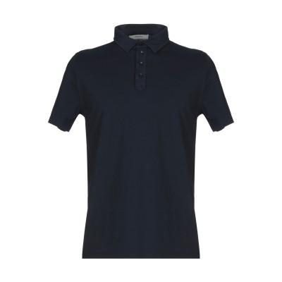 アルファスタジオ ALPHA STUDIO ポロシャツ ダークブルー 50 コットン 100% ポロシャツ
