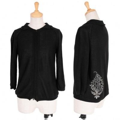 【SALE】ワイズY's レーヨンリネンバック装飾ジップデザインニット 黒3 【レディース】
