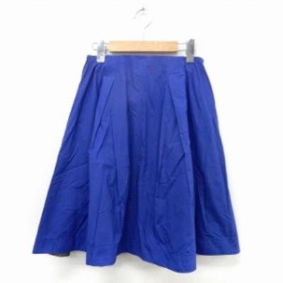 【中古】ガリャルダガランテ GALLARDAGALANTE スカート フレア タック サイドジップ シンプル 0 ブルー /ST39
