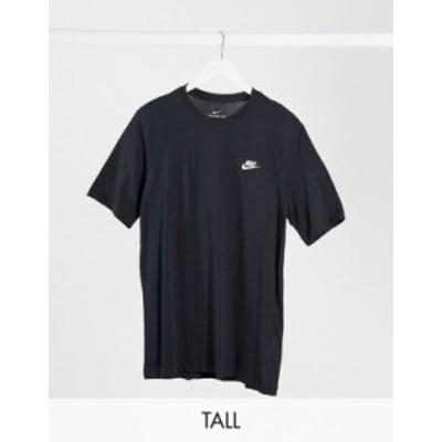 ナイキ メンズ シャツ トップス Nike Tall Club t-shirt in black Black
