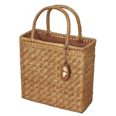 削皮 網代編 6mm 山葡萄 かごバッグ かぶせ 内布付 バッグ おしゃれ 高級感 レディース 大容量