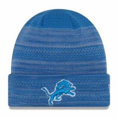 New Era ニュー エラ スポーツ用品  New Era Detroit Lions Youth Blue 2017 Sideline Official TD Knit Hat