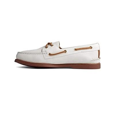 Sperry Men's Gold Ao 2-Eye Boat Shoe, White, 11