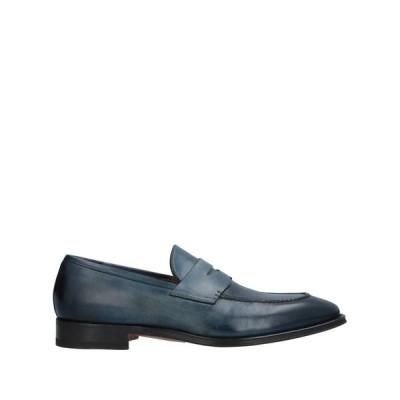 SANTONI モカシン ファッション  メンズファッション  メンズシューズ、紳士靴  モカシン ブルー
