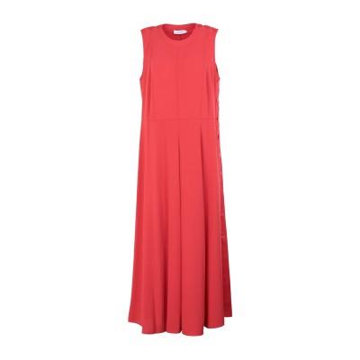 カルバン クライン CALVIN KLEIN ロングワンピース&ドレス レッド 38 ポリエステル 100% ロングワンピース&ドレス
