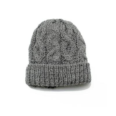 14+(ICHIYON PLUS) / KIDS内ボアウールケーブル編みワッチ KIDS 帽子 > ニットキャップ/ビーニー