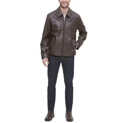 コールハーン ジャケット&ブルゾン アウター メンズ Men's Leather Jacket, Created for Macy's Java