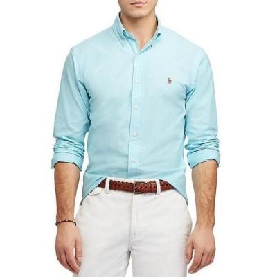ラルフローレン メンズ シャツ トップス Slim-Fit Solid Stretch Oxford Long-Sleeve Woven Shirt