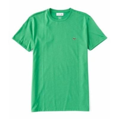ラコステ メンズ シャツ トップス Pima Cotton Jersey Short-Sleeve Tee Open Green